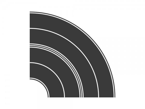 Teerbelag Kurvensatz je 1x Radius 84+165mm, 1:87