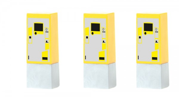 Parkscheinautomat (3 Stück), 1:87