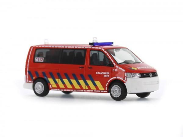 Volkswagen T5 GP Bus LR FD Brandweer Bree (NL), 1:87