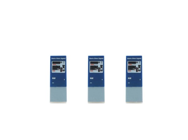 Snackautomat 3 Stück SBB Billettautomat (CH), 1:87