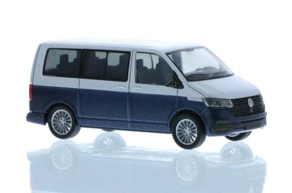 Volkswagen T6.1 Bus KR reflexsilber/starlight blue, 1:87