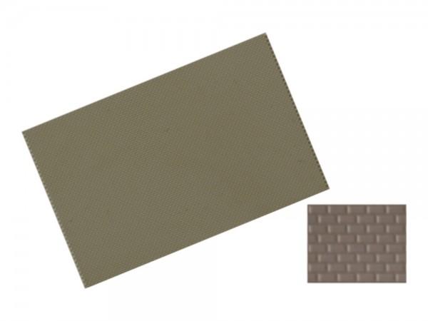 Pflasterplatte Läuferverbund 122x79 mm 2 Stück anthrazit, 1:87