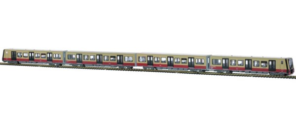 Stadler/Siemens BR 484 Fahrmodell S-Bahn Berlin Wagennr. 484 001 4tlg. Halbzug, 1:87