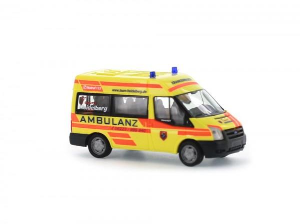 Ford Transit 06 Ambulanz Heidelberg, 1:87