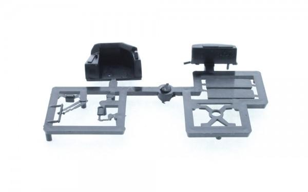Adtranz GT6 Zurüstteile 2x Zielschild, Spiegel, Armaturenbrett