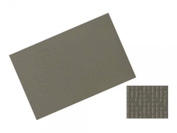 Verbundpflasterplatte 122x79mm betongrau 2 Stück, 1:87