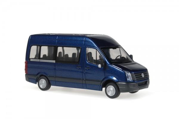 Volkswagen Crafter Bus 2011 mistralblau perleffekt, 1:87