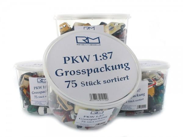 PKW-Autopackung mit 75 Modellen 1:87 netto/netto