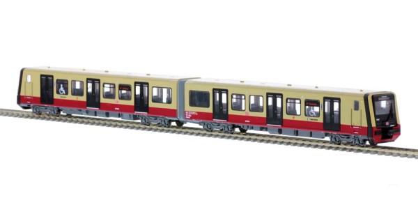 Stadler/Siemens BR 483 Fahrmodell S-Bahn Berlin Wagennr. 483 001 2tlg. Viertelzug, 1:87