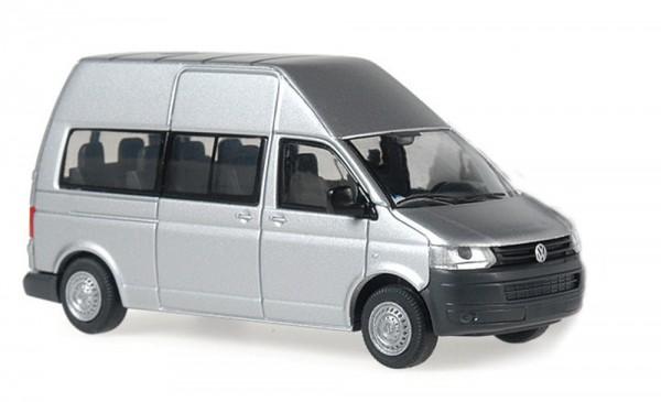 Volkswagen T5 ´10 HD Bus Flügeltür silber metallic, 1:87