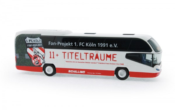 Neoplan Cityliner 07 Schilling Reisen - Fanbus 1. FC Köln, 1:87