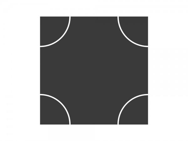 Teerbelag Kreuzung klein 1 Stück, 1:87