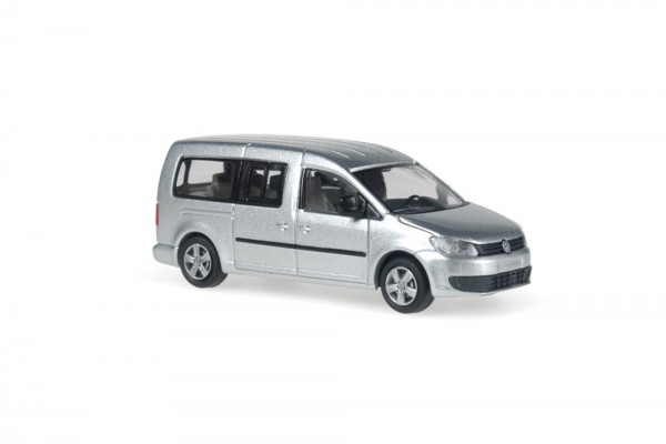 Volkswagen Caddy Maxi Bus 2011 Reflexsilber metallic, 1:87