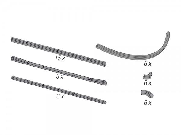 Hochbord-Randsteine nach DIN EN 1340, 1:87
