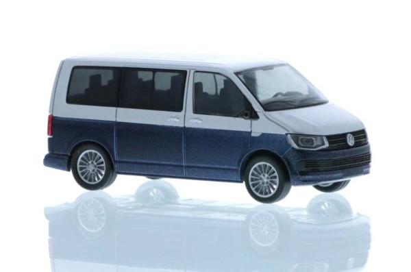 Volkswagen T6 Bus KR reflexsilber/starlight blue, 1:87