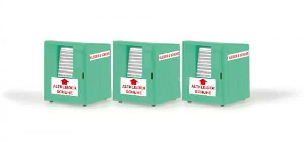 Altkleidercontainer (3 Stück), 1:87