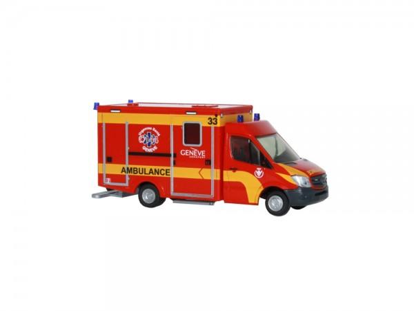 WAS Design-RTW Facelift Ambulance Airport Genève (CH), 1:87