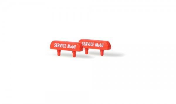 Schilder für Servicemobil (6 Stück), 1:87